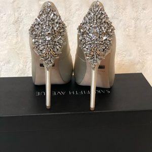 92b8ead2bd72 Badgley Mischka Shoes - Badgley Mischka Kiara Crystal Back Open Toe Pump